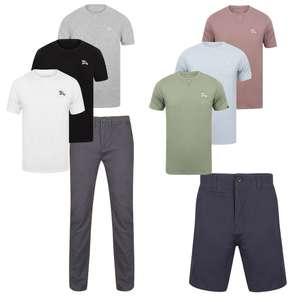 Men's Chinos or Shorts + 3 T Shirts for £20 with code + £1.99 delivery @ Tokyo Laundry