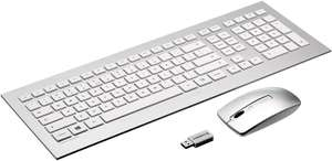 Cherry DW8000 2.4GHz Wireless Keyboard And Mouse (US Layout), Silver/White, £4.66 Used - Very Good (+ £4.49 Non-Prime) @ Amazon Warehouse