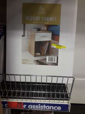 Bedside Cabinet, Reduced to £12 @ B&M in-store Derby