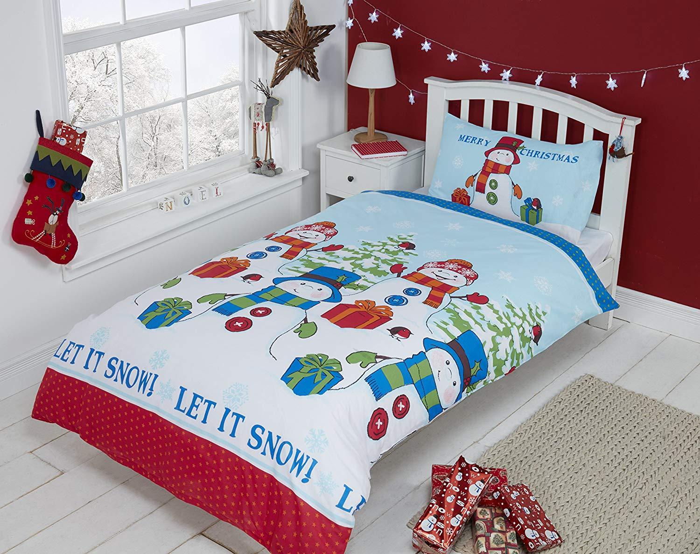 Rapport Let It Snow Snowman Duvet Set Toddler Multi-Colour @ Amazon Add On Item £4.38