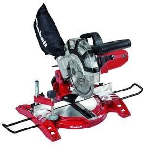Einhell UK TC-MS 2112 1600 W Compound Mitre Saw with 5000 rpm Cutting Speed - Red £56.99 @ Amazon
