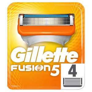 2 for £15 offer on genuine Gilette Fusion5 razor blades (4 pack) with complimentary samples of Dior Sauvage perfume at Boots