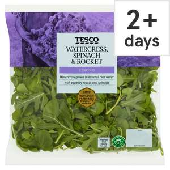Watercress, Spinach & Rocket Salad 80g- Half Price £0.50 was £1.00 at Tesco