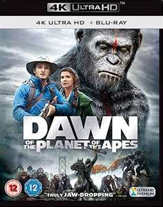 Dawn of the Planet of the Apes 4K HDR + Blu-Ray £9.23 @ Amazon UK