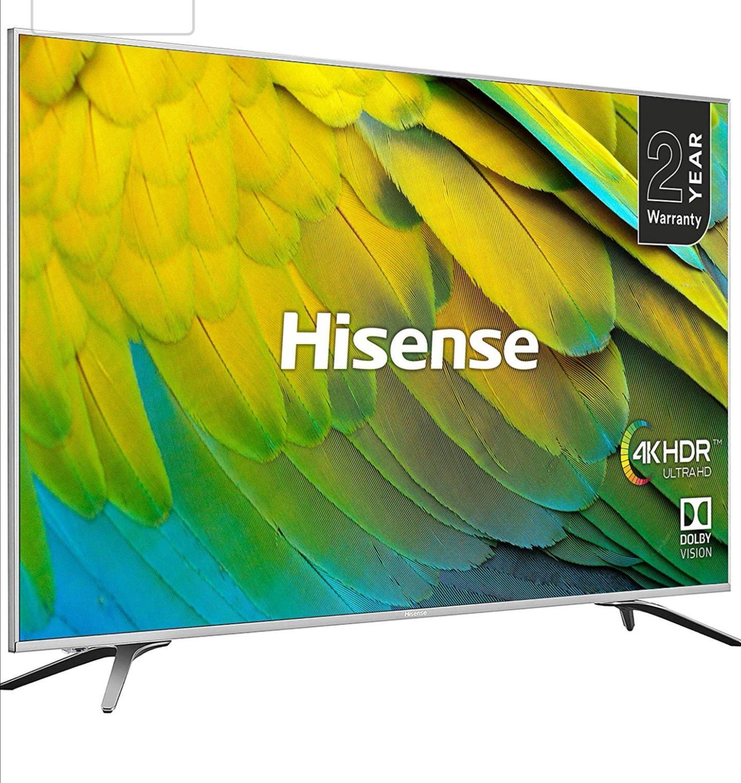Huge 75 inches Hisense 4K UHD HDR TV H75B7510UK at Amazon for £1099