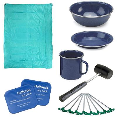 Halfords Camping Big Reductions - E.G: Travel Mug 50p, Mallet 50p, Picnic Rug £4, Campingaz bluet £5