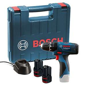 Bosch GSB 120 - LI Professional 12V with 2 x 1.5 Ah Batteries with Charger and Carry Case £55.17 @ Amazon