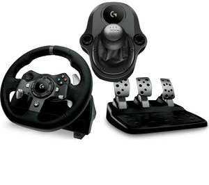 Logitech G920 Steering Wheel, Pedal and Gearshifter Bundle at Currys for £180