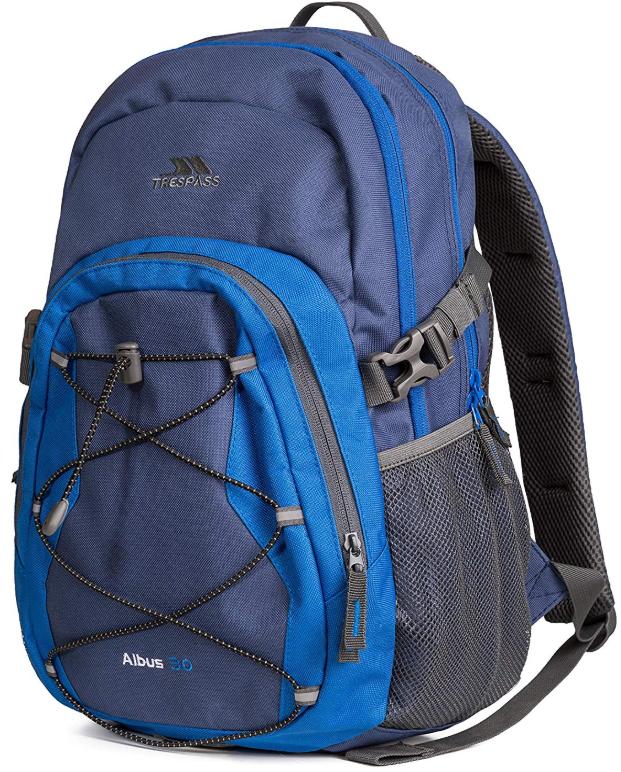30 Litre Trespass Albus Backpack - £11.38 (Prime)/ £15.87 (Non Prime) @ Amazon