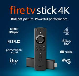 AMAZON Fire TV Stick 4K with Alexa Voice Remote delivered - £39.99 @ Currys