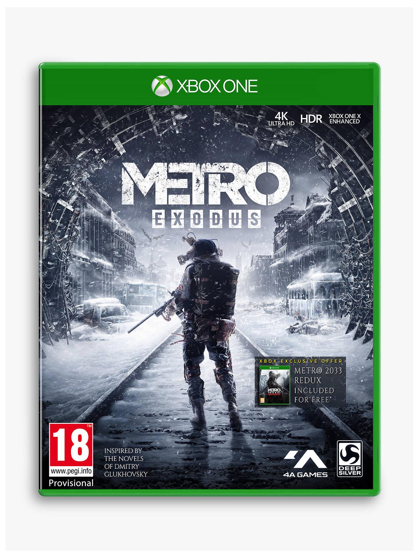Metro: Exodus, Xbox One £17.99 at John lewis and Partners(+£2 C&C)