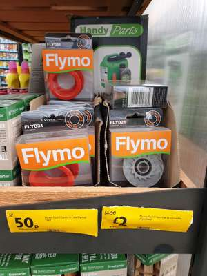 Legitimate flymo fly031 spool and line manual feed 50p instore @ Morrisons