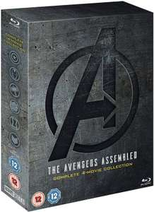 Avengers: 1-4 Complete Blu-ray Boxset Includes Bonus Disk @ Amazon for £29.99