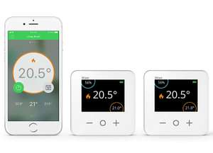 Drayton Wiser Smart Thermostat Dual Zone Heating and Hot Water Control kit at Amazon for £144.99