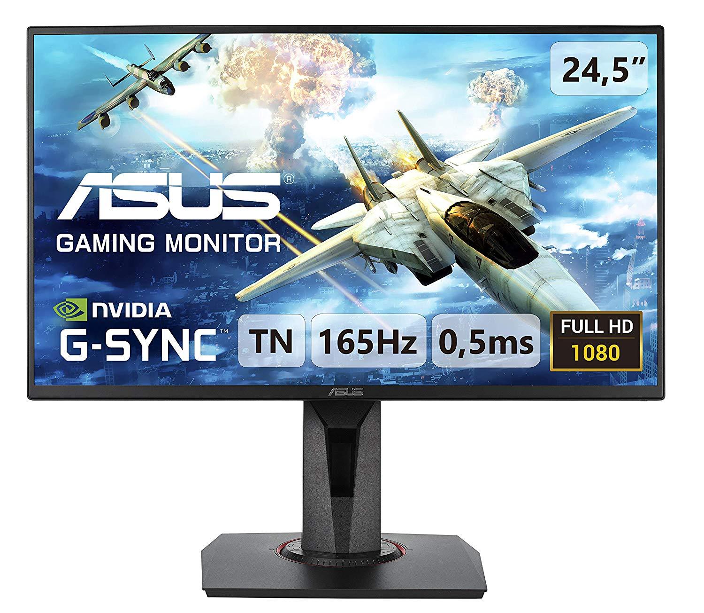 ASUS VG258QR, 25 Inch (24.5 Inch) FHD (1920 x 1080) Gaming Monitor, 0.5ms, 165 Hz, Super Narrow Bezel, G-Sync @ Amazon £225.99