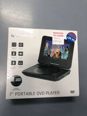 Goodmans portable DVD player instore at B&M for £29