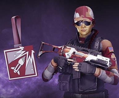 Rainbow Six Siege Twitch Prime Ash Charm, uniform and headgear