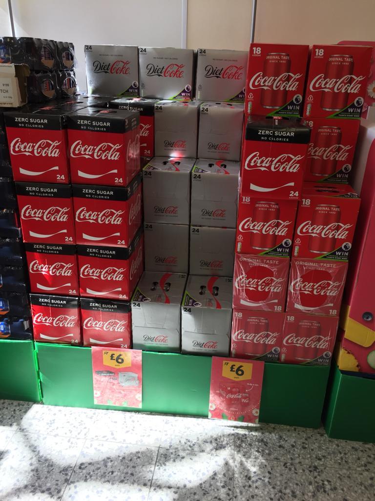 Diet Coke 24 pack / Coke Zero 24 pack are cola 18 pack for £6 @ Morrisons