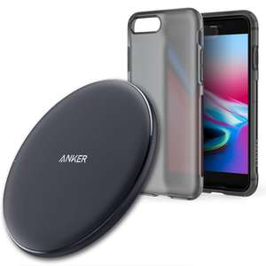 Anker 10W Qi-Certified Wireless Fast Charging Pad + Free iPhone 8 Plus Case £11.29 Prime / £16.78 Sold by AnkerDirect & Fulfilled by Amazon