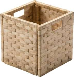 Argos Home Water Hyacinth Cubed Storage Basket - Small Weave  (free C&C)  @ Argos - £5.49