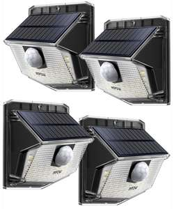 Mpow 30 LED Solar Lights, Outdoor Motion Sensor Solar Security Lights, Pack of 4 - £16.65 (Prime) / £21.14 (non) @ Sold by Mpow FBA