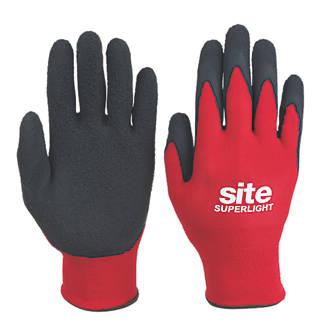 Site Superlight Builders Gloves Red / Black Large £1 in Screwfix (C&C)