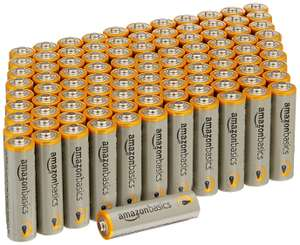 100 AmazonBasics Performance Alkaline AA batteries £15.99 Prime (+£4.49 delivery non Prime)