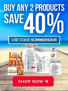 PhD Nutrition shop - 40% off when you buy any 2 items
