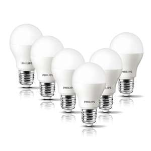 Philips LED E27 Frosted Light Bulbs, 8 W (60 W) - Warm White (6 pack) now £6.99 @ Amazon Prime / £11.48 Non Prime