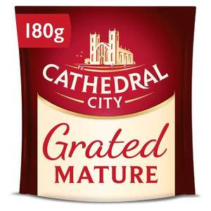 Morrisons-Cathedral Grated Cheese 180g - Mature/Lighter- Half Price £1.00