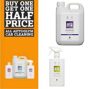 Buy One Get One Half Price on Autoglym Product @ Halfords + Free click and collect