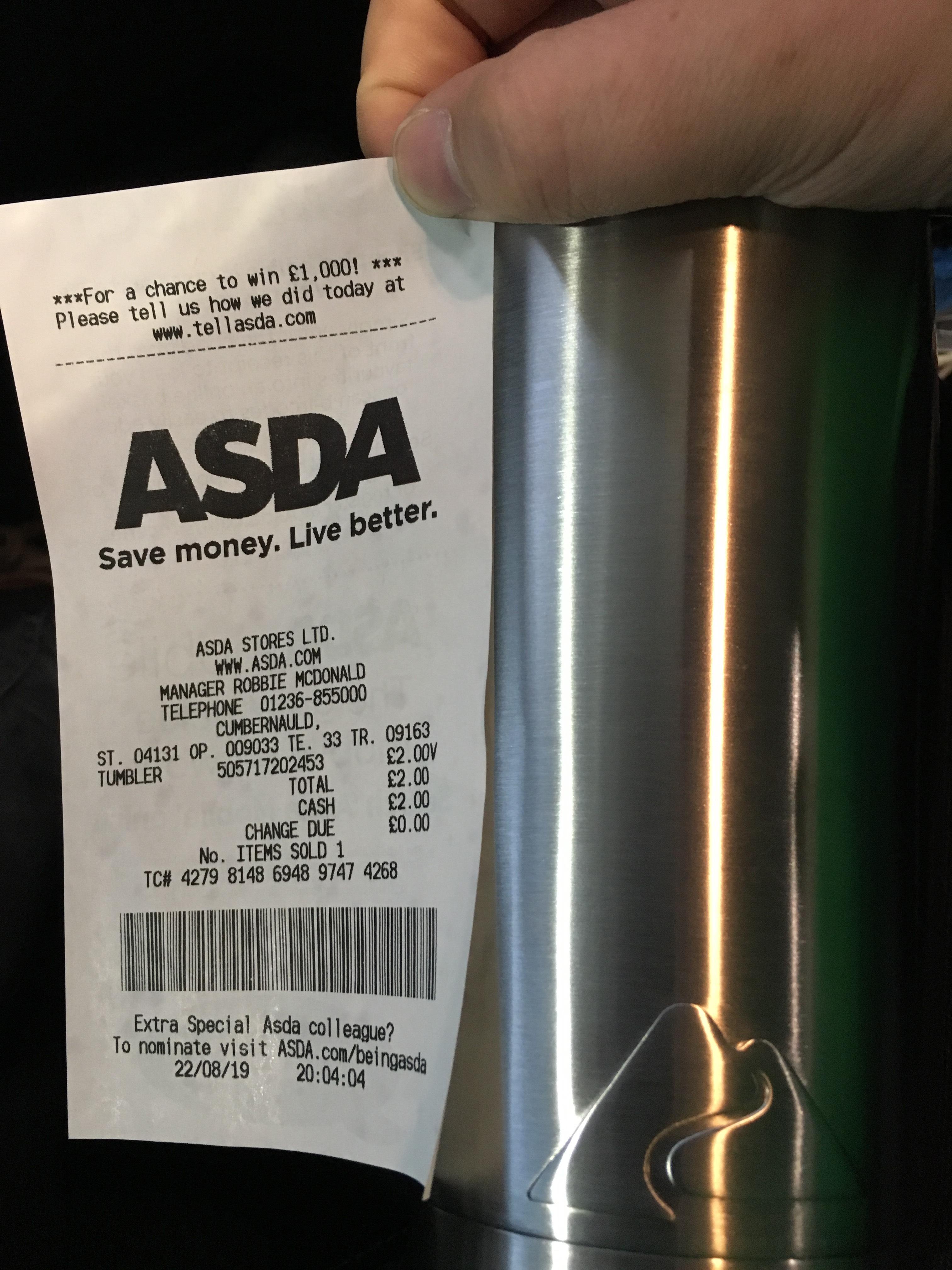 Ozark Tumbler - £2 @ Asda Instore (Cumbernauld)