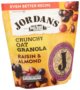 Jordans Crunchy Oat Granola Raisin and Almond 750g - £1.29 Instore @ Heron Foods