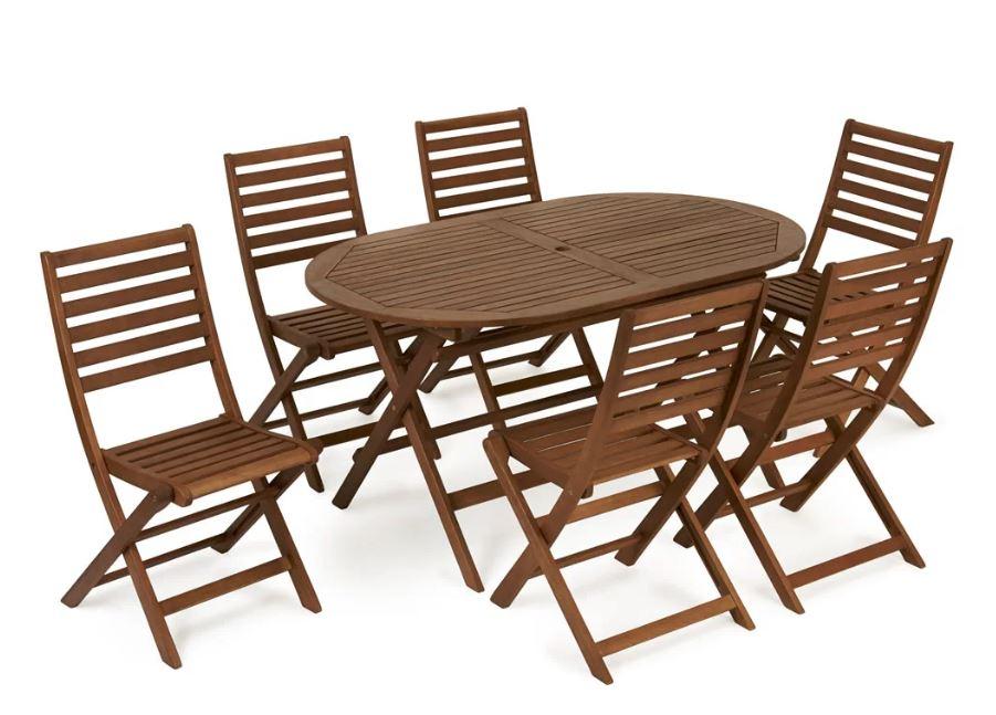 Wilko FSC Wooden Patio Set 6 Seater £90 at Wilko instore