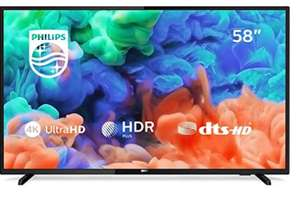 Philips 58PUS6203/12 58-Inch 4K Ultra HD Smart TV with HDR Plus and Freeview Play - Black - No ambilight - £369.99 at Amazon