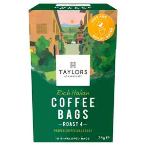 Taylors of Harrogate Rich Italian Coffee Bags (Pack of 3, total 30) - £6.00 @ Amazon (Prime) / £10.49 (Non-Prime)
