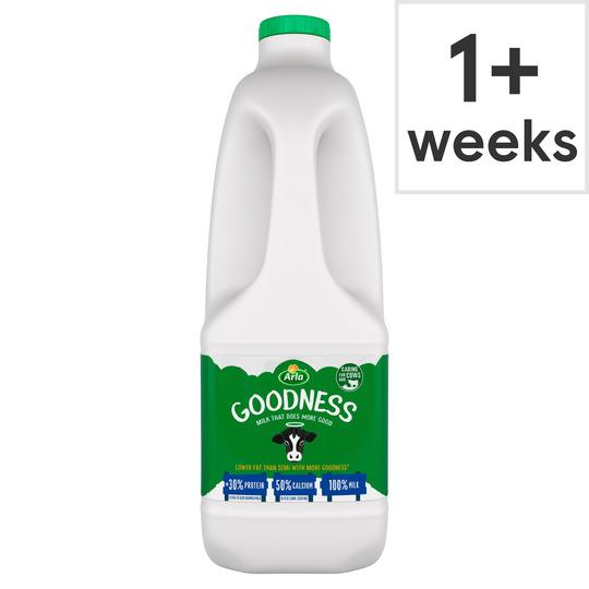 Free : Arla Goodness Fresh Milk 2 Litre via CheckOutSmart - value £1.25 @ Tesco