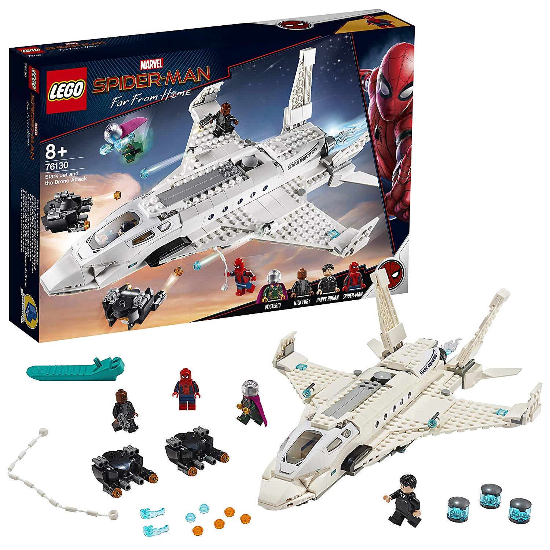 LEGO 76130 Marvel Stark Jet and the Drone Attack Building Set, Multi-Colour - £33.82 @ Amazon