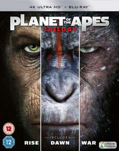 Planet Of The Apes Trilogy Boxset - 4K Ultra HD - £14.99 / +99p for non members @ Zavvi