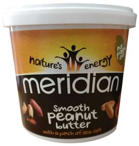 Meridian Natural Smooth Peanut Butter with Pinch of Salt 2x1kg- £7.28 Prime (+£4.49 non-Prime) at Amazon