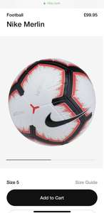 Nike Unisex's Merlin Football, White/Bright Crimson Black, Size 5 - £67.70 @ Amazon