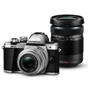 Olympus OM-D E-M10 Mark II in Silver with 14-42mm and 40-150mm Lenses - £359.10 @ Jessops with voucher
