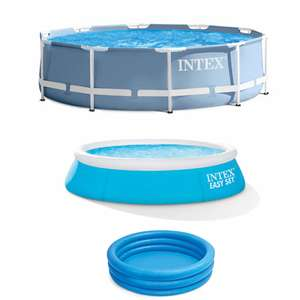 20% Off Intex Pools / Accessories Using Code - Including Offers - Intex Prism Metal Frame Swimming Pool 3.66m - £67.79 @ Euro Car parts