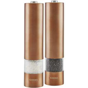 Cooks Electric Salt and Pepper Mill - Rose Gold or Graphite £8.50 w/ code @ Robert Dyas or Ryman Stores (Free C&C) - 1 Year Guarantee
