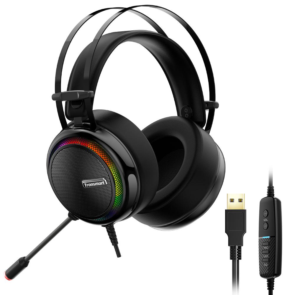 Tronsmart Glary 7.1 Virtual Surround LED Gaming Headset With Mic / 50mm Drivers - PC / Nintendo Switch / PS4 - £21.17 w/code @ Geekbuying