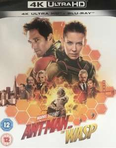 Marvel Ant-Man & The Wasp 4K UHD/Blu-Ray (Pre owned) £9.60 inc. P&P @ thetradeinn eBay