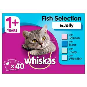 Whiskas Complete Pouch Fishermans Choice 40 x 100g @ Morrisons Stores - £8