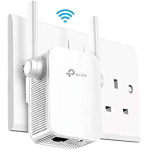 TP-Link AC1200 (RE305)  Dual Band Range Extender, Broadband/Wi-Fi Extender, Wi-Fi Booster/Hotspot 1 Ethernet Port - £24.99 @ Amazon