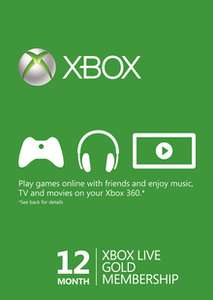 12 Month Xbox Live Gold Membership (Xbox One/360) £35.99 @ CDKEYS