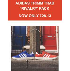 Adidas Rivalry Pack OG trimm Trab trainers £28.13 + postage @ Hanon with code TRIMMTRAB25  (postage £4.99?) blue or red